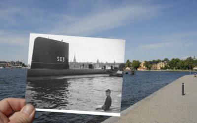På kajen vid engelska ubåten
