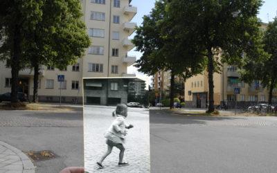 Åsa springer över gatan