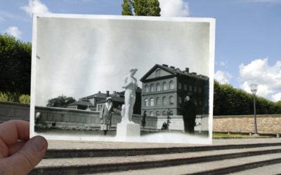 Nakne Strindberg vid stadshuset