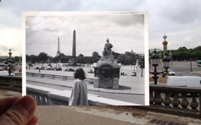 En mamma blickar ut över Paris 1952