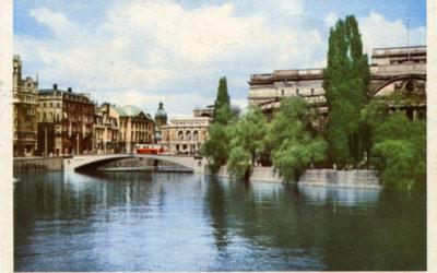 Riksdagshuset och bron vykort
